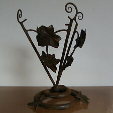VINTAGE François CARION signed BELGIAN WROUGHT IRON ART DECO TABLE LAMP BASE