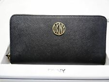DKNY BRYANT PARK SAFFIANO LEATHER CONTINENTAL Z/A CLUTCH BOX WALLET MSRP 105.00