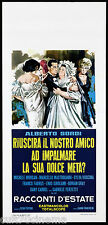 RACCONTI D'ESTATE LOCANDINA CINEMA ALBERTO SORDI MASTROIANNI KOSCINA ITALIA 1958