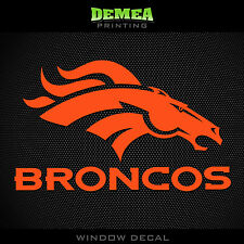 "Denver Broncos NFL -  Orange - Vinyl Sticker Decal 5"""
