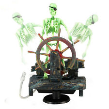 Fish Tank Aquarium Skeleton on Wheel Action-Air Aquariums Ornament Fashion