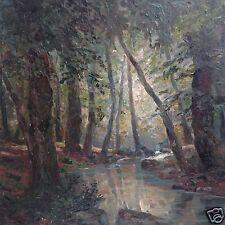 Impressionismo restaurando scuola di Monaco foresta Darß darss Bach H. LEGNO MELA ~ 1910