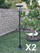 "2 Pack 67"" Solar Powered Lamp Post Light with Bright LED Bulb Garden Adjustable"