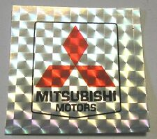 VECCHIO ADESIVO AUTO / Old Sticker Vintage MITSUBISHI carta brillante (cm 5 x 5)