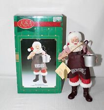 "Kurt S Adler  KSA Fabriche Santa & Hershey Chocolate ""How Sweet It Is"" #W10093"