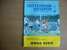 1977/8 Tottenham Hotspur Spurs v Hull City - Excellent Condition