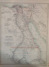 Egypt Lower Nubia  - Africa NW And Southern Antique Map 1891 Large 2 Sided Atlas
