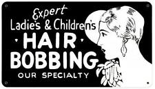 Vintage Beauty Barber Shop Hair Bobbing Advertising Metal Sign Bathroom BS012