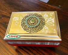 """Antique Musical Jewelry Box with Dancing Ballerina """"Swan Lake"""" Tune Made in Japa"""