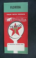 1958 Florida  road  map Texaco  gas oil pre interstate U.S. & city inserts