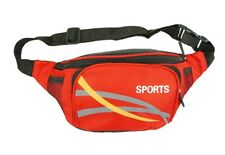 Mens Canvas Waist/Bum Bag From Sport Red In Colour New And Sealed