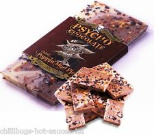 """PSYCHO CHOCOLATE - CHILLI POPPIN' MUD PIE WITH NAGA JOLOKIA CHILLI"" 100g Bar"