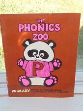 Vintage 1976 The Phonics Zoo Primary School Workbook Grammar Grade K 1 Book
