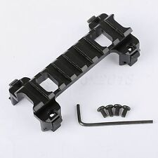 Tactical Airsoft Scope Mount Low Profile Claw Rail Weaver 20mm for G3/MP5 Series