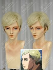 Attack on Titan Erwin Smith Anime Costume Cosplay Wig +Wig net+Track Number