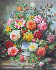 Needlework Craft Embroidery DIY Counted Cross Stitch Kits Old Fashioned Roses