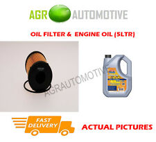 DIESEL OIL FILTER + LL 5W30 ENGINE OIL FOR OPEL MERIVA 1.3 75 BHP 2003-10