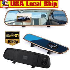 """3.2"""" HD 1080P Auto Car DVR Rearview Mirrors Camera Video Recorder Dash Cam White"""