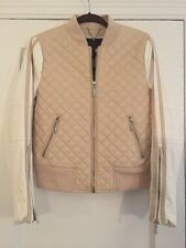 NWT BCBG Faux Leather Bomber, M