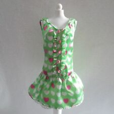 NEW Barbie My Melody Green Pink & White Hearts Dress ~ Model Muse Clothing 2