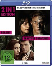 BEASTLY (Alex Pettyfer) + BEAUTIFUL CREATURES (Alice Englert) 2 Blu-ray Discs