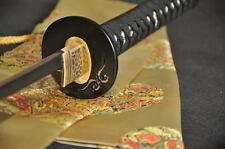 Japanese Samurai Sword Katana Clay Tempered Damascus Steel Sharp Can Cut Bamboo