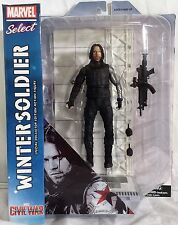 "Marvel Select Winter Soldier 7"" Captain America Civil War Diamond Toys Figure"