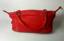 WOMENS BAG RED STUDDED LEATHER UK FAST POSTAGE NEW  QUILTED