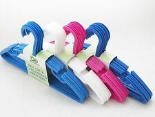 Clothes Hangers Kids Childrens Plastic Slotted Hangars 11 inches NEW Lot of 32