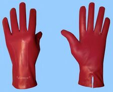 NEW MENS size 9.5 GENUINE RED LAMBSKIN LEATHER DRESS GLOVES with SILK LINING