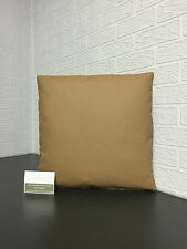 Handmade Faux Leather/ Vinyl Scatter Cushion in Coffee