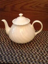 Wedgwood Candlelight Teapot With Lid White Bone China Made In England Perfect