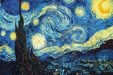 """Canvas Print The Starry Night Oil painting Picture Printed on canvas 16X24"""" P526"""