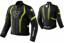 GIACCA JACKET MOTO REV'IT REVIT SHIELD H2O IMPERMEABILE WP NERO GIALLO NEON TG S