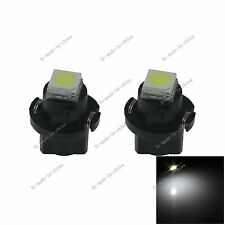 2x White T5 Neo Wedge 1 SMD 5050 LED Car Bulbs HVAC Climate Control Lights N401