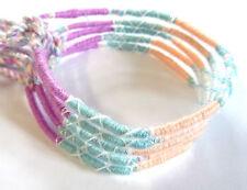 Lot de 5 Bracelet Brésilien Amitié Porte Bonheur Coton violet bleu