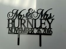 "Personalized Wedding Cake Topper Mr & Mrs Surname Custom Made Decoration 7"" cake"