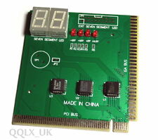 PC Computer Analyzer Diagnostic POST Test CARD PCI &ISA - UK seller