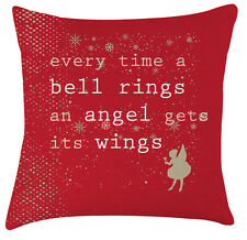 Christmas Angel movie quote festive pillow / cushion