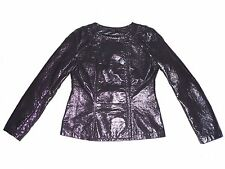 C&C CONFIDENTIAL/ LADIES GREY FAUX LEATHER JACKET/ SIZE SMALL, 10/ SHINY