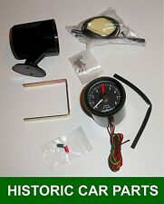 "52mm (2"") REV COUNTER & POD ~ Positive+ or Negative- Earth 12volt 12V Tachometer"