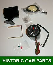4 Cylinder Rev Counter & Pod for Positive or Negative Earth 12 volt Tachometer