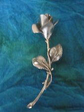 Fabulous Vintage Designer Signed Rose Bud Pin/Brooch Signed PASTELLI