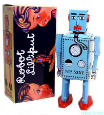 SCHYLLING WIND UP ROBOT LILLIPUT TIN TOY BLUE VERSION - SALE!