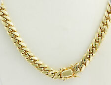 """283 gm 14k Yellow Solid Gold Men's Heavy Miami Cuban Chain Necklace 26"""" 12.50mm"""