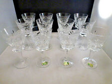 "Waterford crystal ""ASHLEY"" pattern WINE  glasses 12 pieces SET  OF 12 PERFECT"