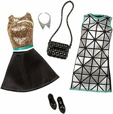 Clothes for Barbie Doll, Fashion Pack Glamour - Gold,Turquoise & Black