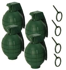 Set of 4 GREEN Toy Grenades