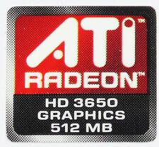 ATI  RADEON HD 3650 512MB  STICKER LOGO AUFKLEBER 16x15mm (415)