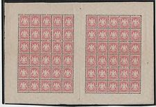 1875 Germany/Bavaria Scott 34 3 kr rose full sheet of 60 MNH